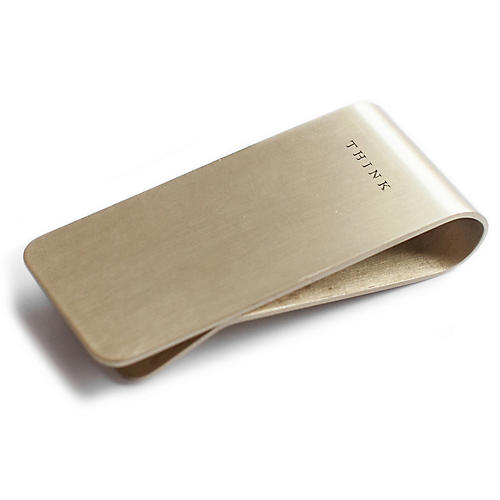 Think Steel Money Clip, Gold
