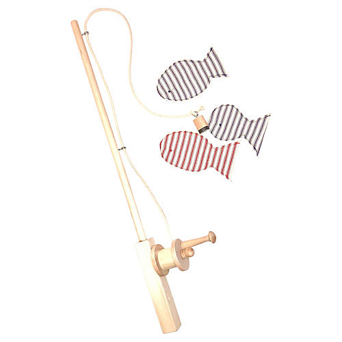 Catch Kids' Toy Fishing Rod & Reel, Natural/Multi
