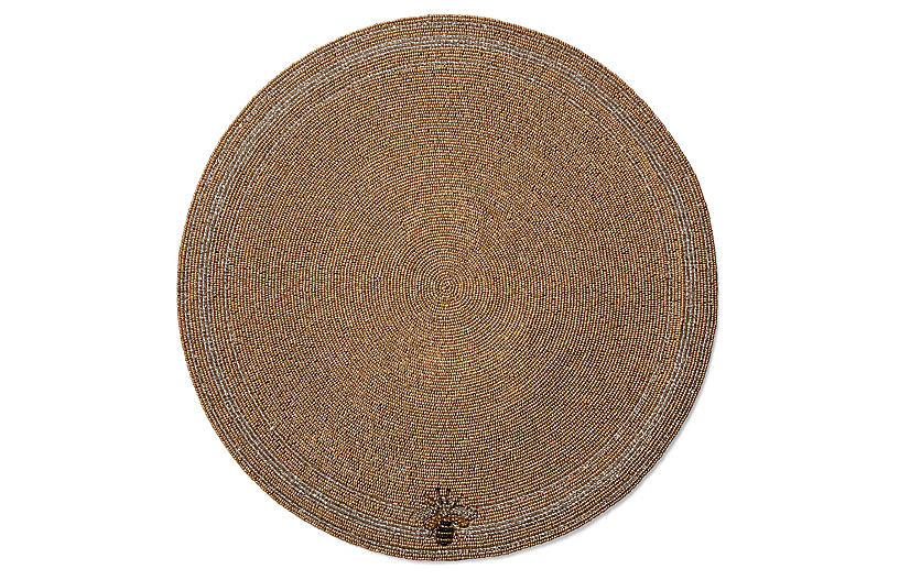 Beaded Bee Place Mat