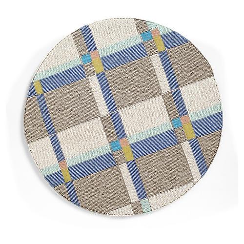 Plaid Place Mat, Blue/Multi