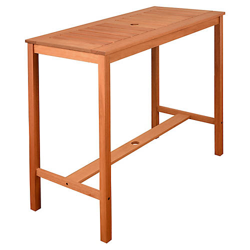 Eurodam Patio Table, Natural