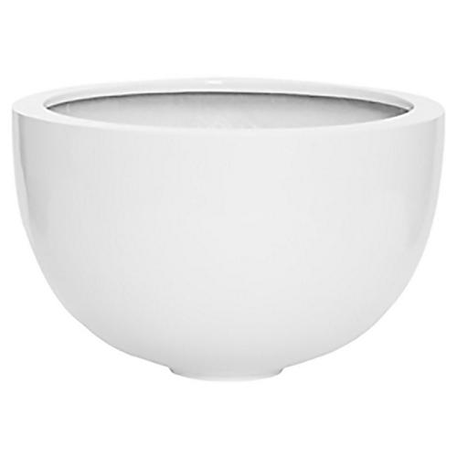 "12"" Dubrow Decorative Bowl, White"