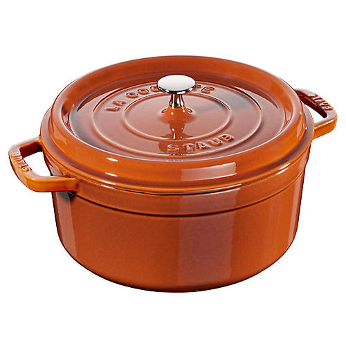 Round Cocotte, Burnt Orange