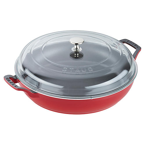 3.5-qt Cast Iron Braiser w/Lid, Graphite