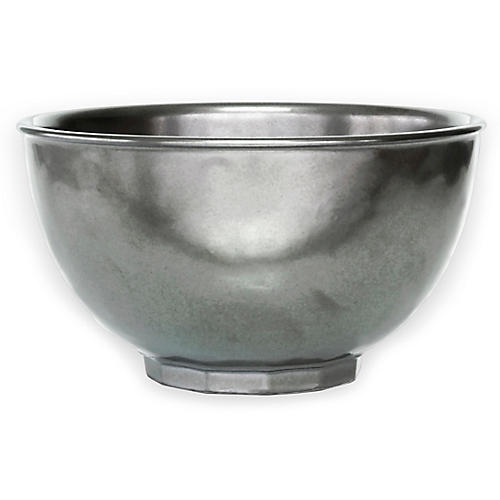 Stoneware Cereal Bowl, Pewter