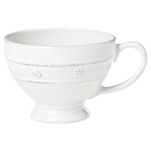 Berry & Thread Breakfast Cup, White