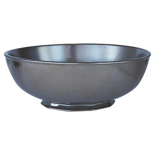 Stoneware Serving Bowl, Pewter
