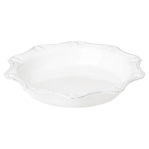 Berry & Thread Pie Dish, White