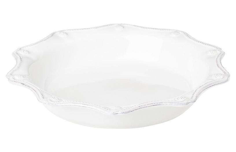 Berry & Thread Pie Dish, White