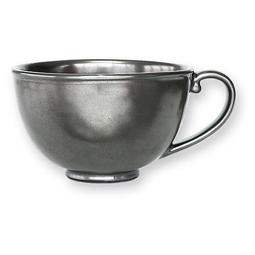 Stoneware Teacup, Pewter
