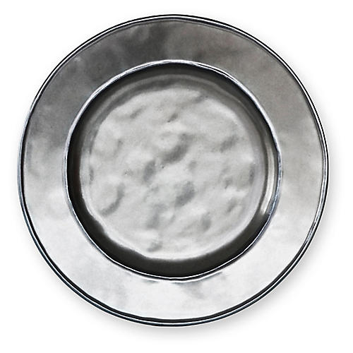 Stoneware Cocktail Plate, Pewter