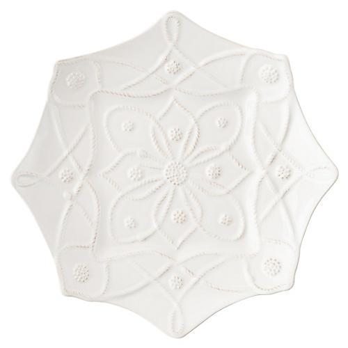 Alcazar Dessert Plate, White