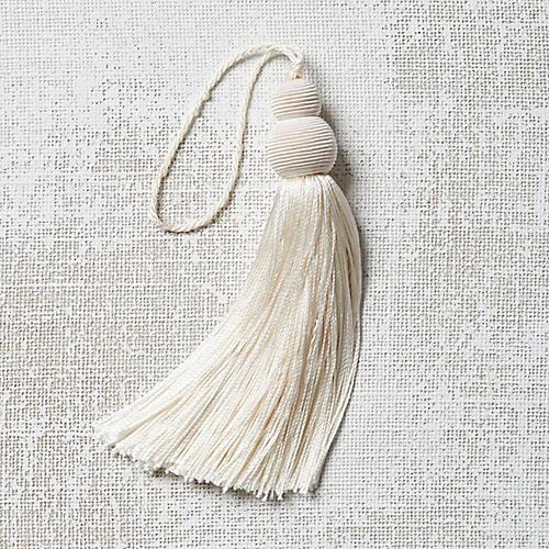 Pom-Pom Key Tassel, Ivory