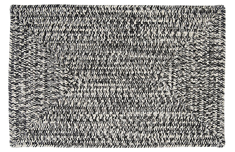 Tweed Outdoor Rug, Charcoal
