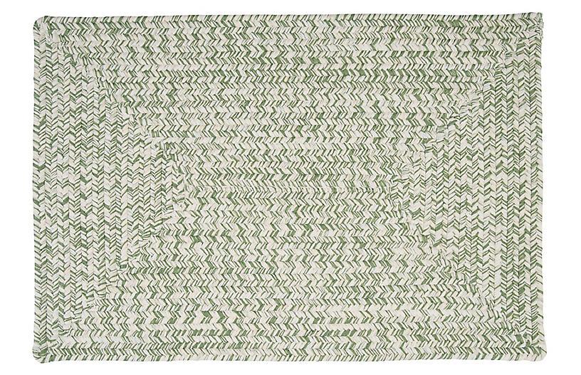 Tweed Outdoor Rug, Fern Green