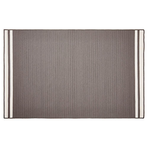 Northport Outdoor Rug, Gray/White