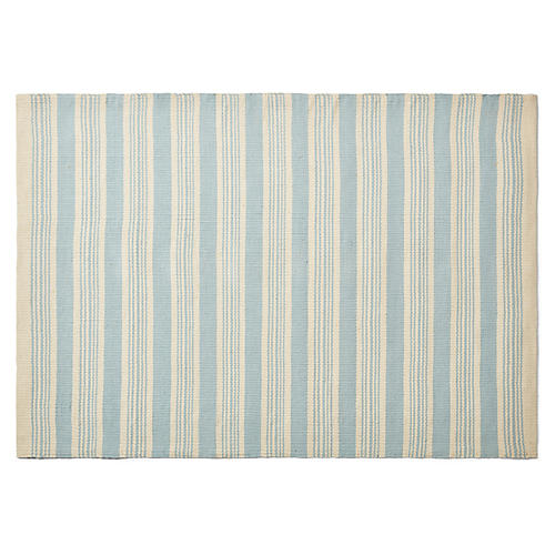 Shani Rug, Light Blue/Ivory