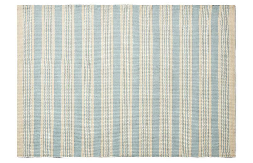 Shani Rug, Light Blue/Ivory