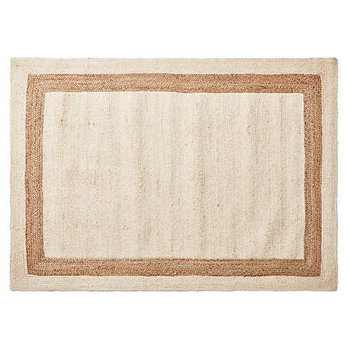 Yoni Jute Rug, Natural/Tan