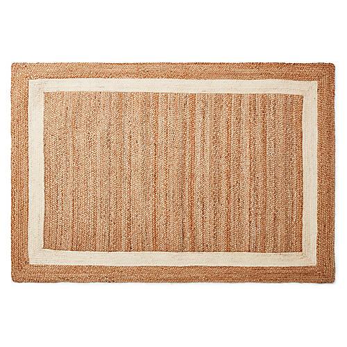 Yoni Jute Rug, Tan/Natural