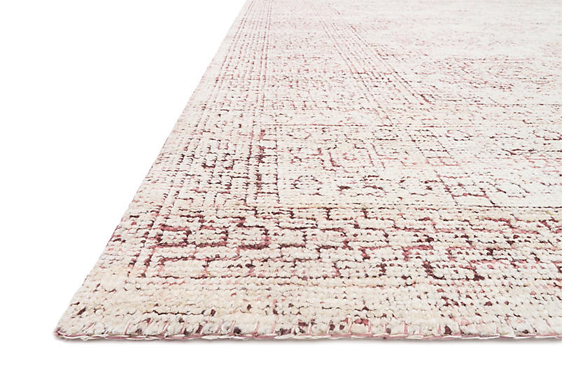 Arley Hand Knotted Rug White Berry Traditional Rugs