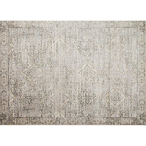 Brianne Rug, Gray/Gold