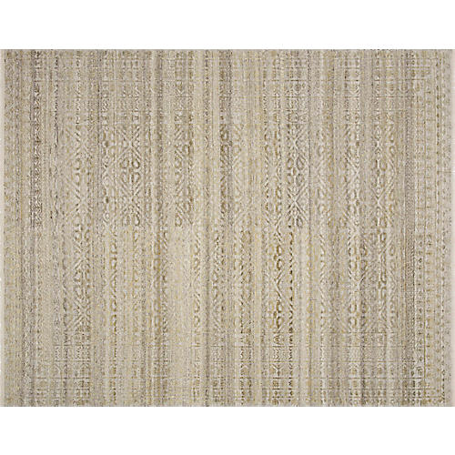 Jacobs Hand-Knotted Rug, Beige/Straw