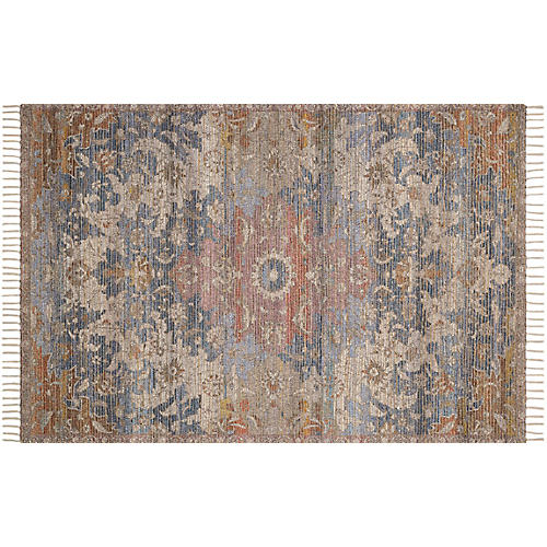 Juno Rug, Denim/Multi