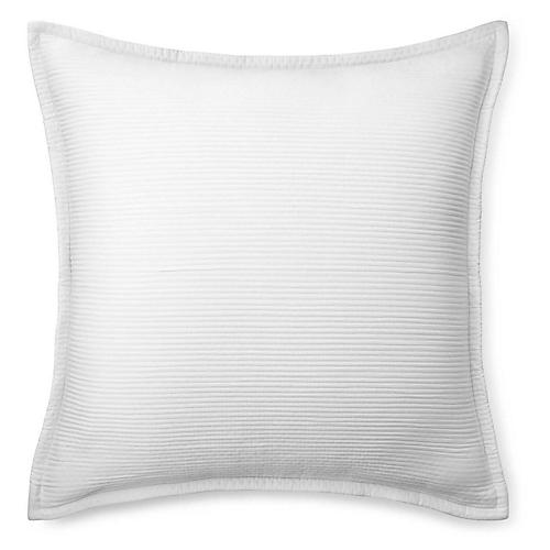 Spencer Matelassé Euro Sham, White