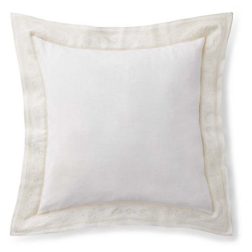 Brynn Pillow, Antiqued White