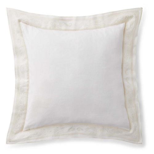 Brynn Pillow, Antiqued White