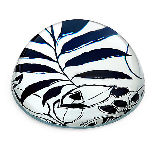 "4"" Lydia Paperweight, Blue/White"