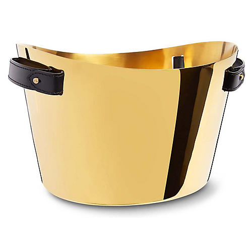 Wyatt Double-Champagne Cooler, Gold/Black