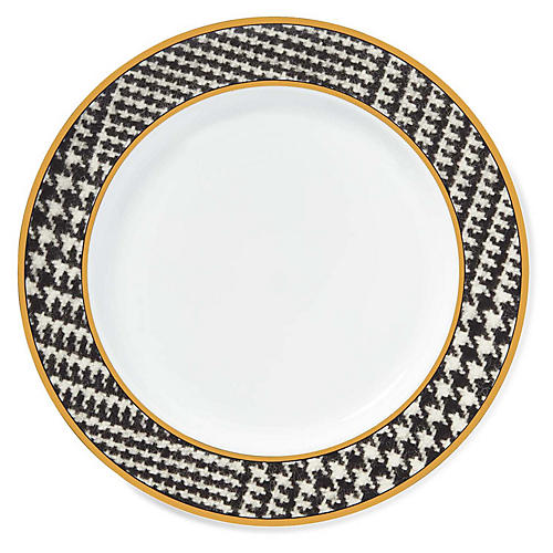 Wessex Dinner Plate, Black/White