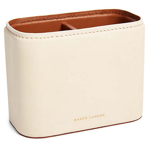 "5"" Ryan Pencil Cup, Cream/Saddle"