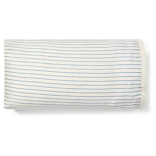 Hadley Pillowcase, Blue/Cream
