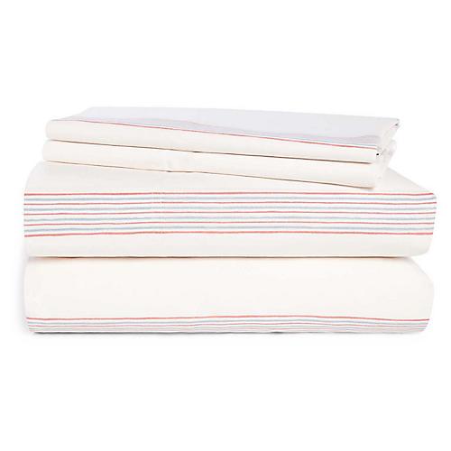 Marley Sheet Set, Cream/Multi