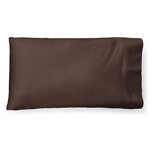 Spencer Solid Pillowcase, Dark Chocolate
