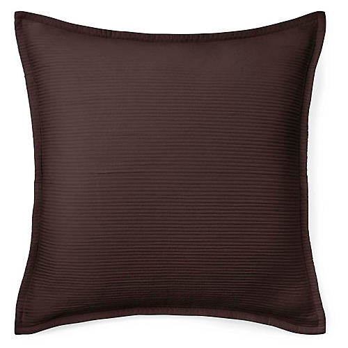 Spencer Matelassé Euro Sham, Dark Chocolate
