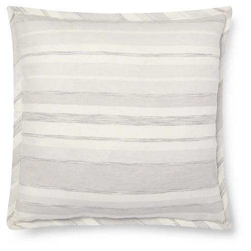 Allaire 18x18 Stripe Pillow, Cream