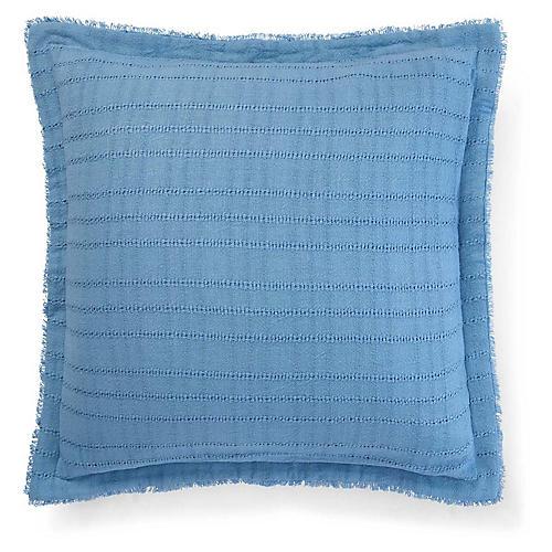 Lucie 20x20 Open Weave Pillow, Blue