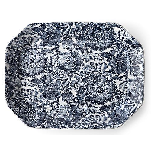Faded Peony Platter