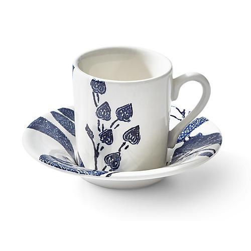 Garden Vine Espresso Cup & Saucer