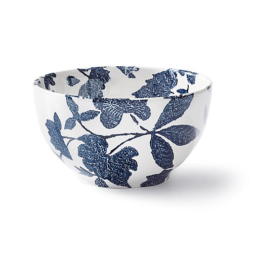 Garden Vine Ice Cream Bowl, Indigo