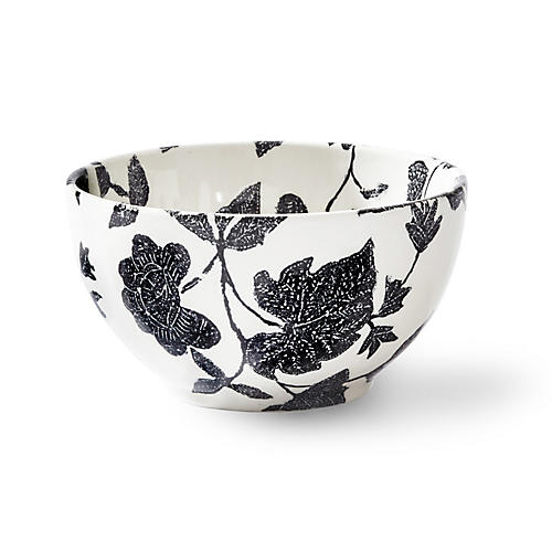 Garden Vine Ice Cream Bowl, Black