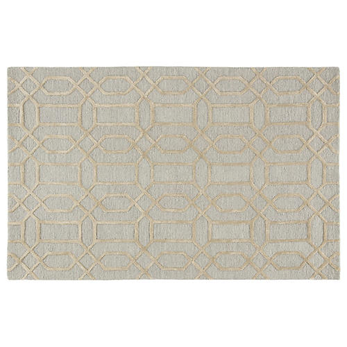 Tortugas Rug, Blue/Gray
