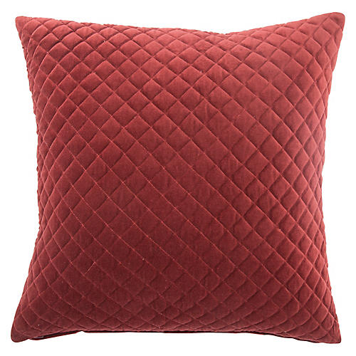 Spi 22x22 Pillow, Red Velvet