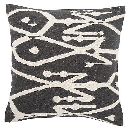 Jari 20x20 Pillow, Black/White