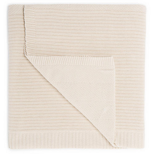 Ming Cotton Throw, Cream