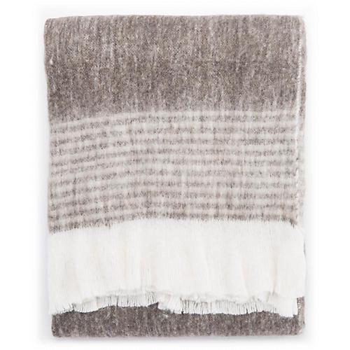 Witth Throw, Gray/White